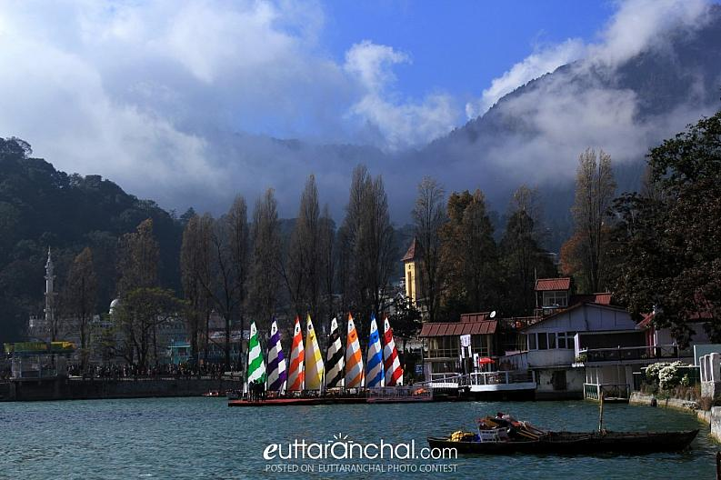 Beauty of nainital with clouds