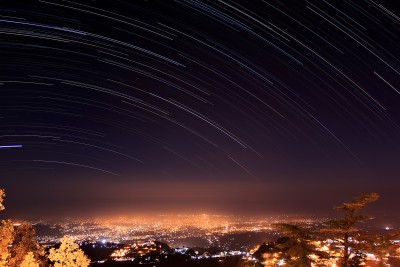 Trails over Dehradun