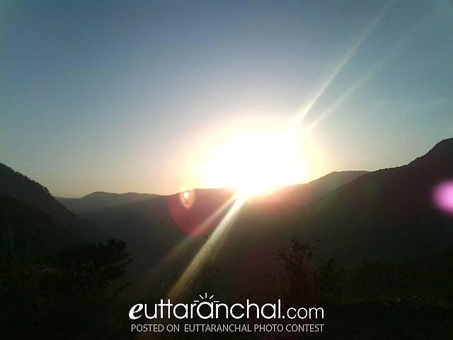 Sunset view of Panwali Khantha