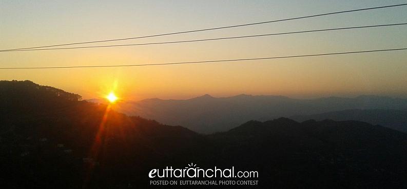 Sunset near Simarkhal, Pauri