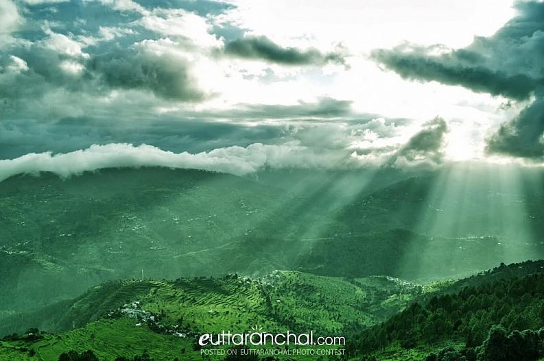 Scenic beauty of valy from Chaubatia