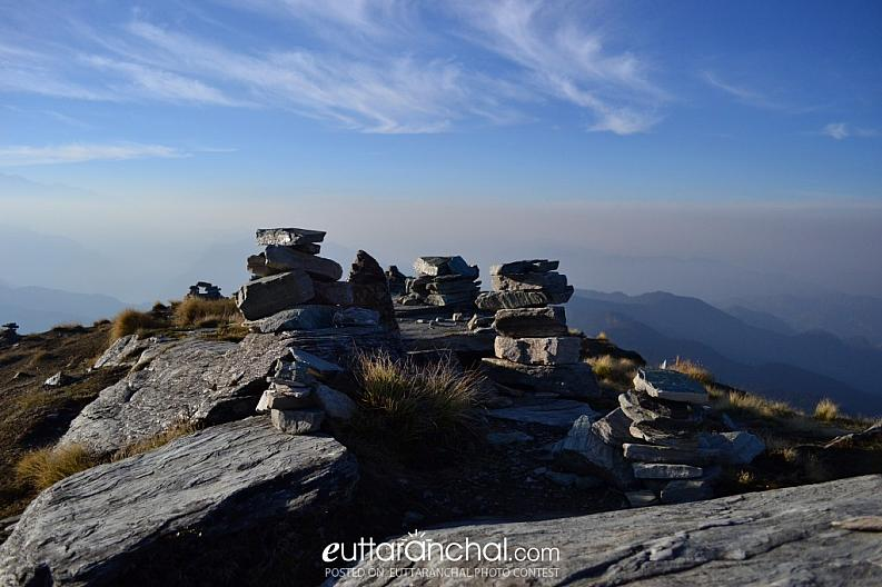 Horizon from Chandrashila Peak