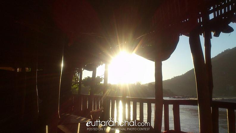 Sunset view from Rishikesh