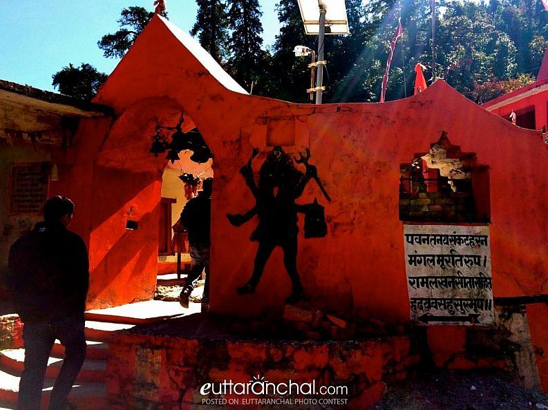 Divine Red – Kalamuni Temple, Munsiyari