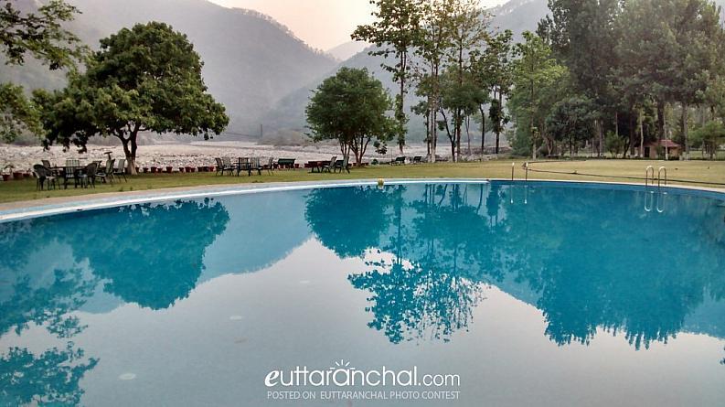 Ramganga Resort Pool Side View