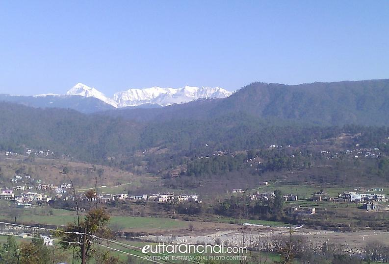 View of Trishul from  My viilage