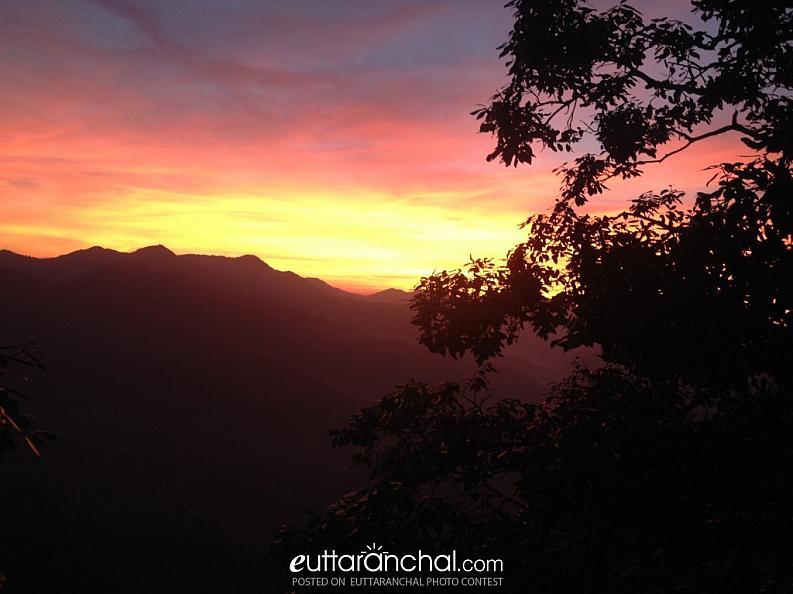 Sunest from Mukteshwar