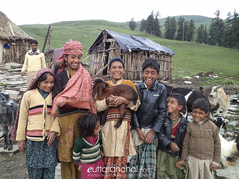Smiling faces of Uttarakhand Himalaya