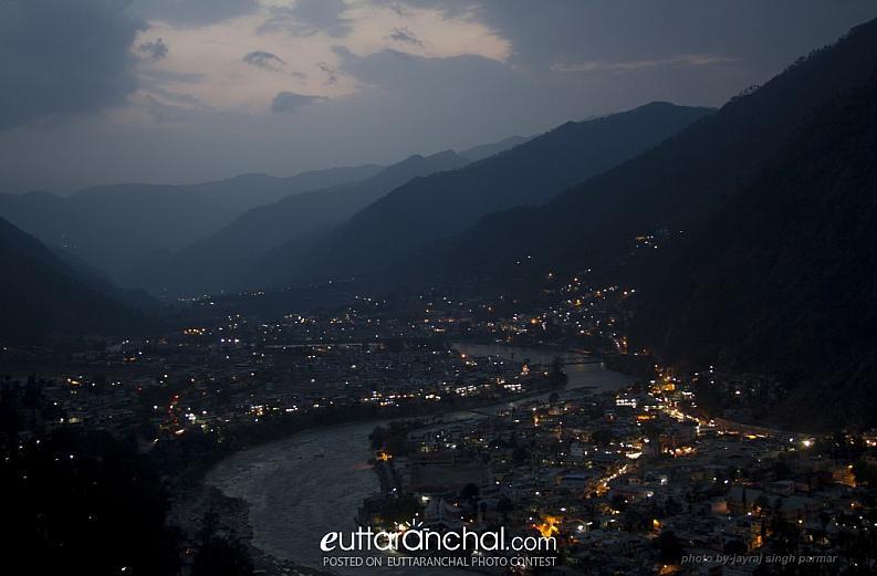Evening view of Uttarkashi