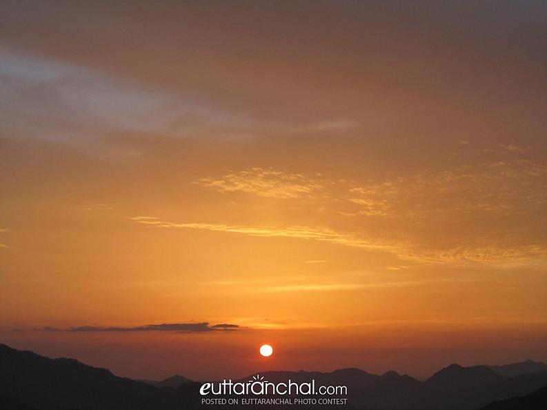 Sunset from Ghandiyal, Pauri