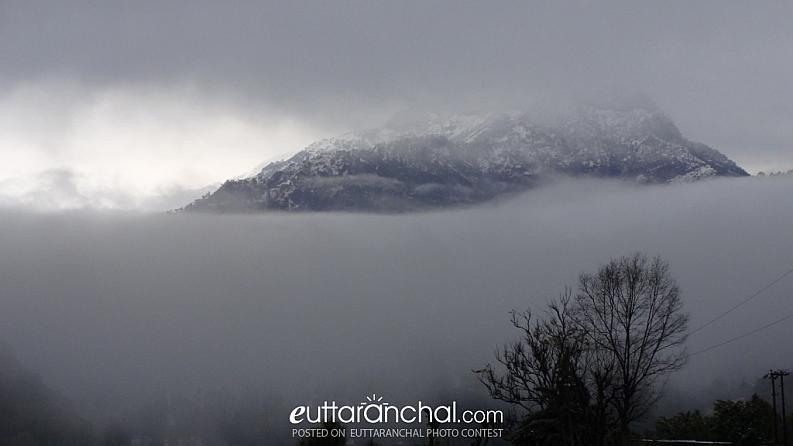 snow clad khait parwat, tehri garhwal