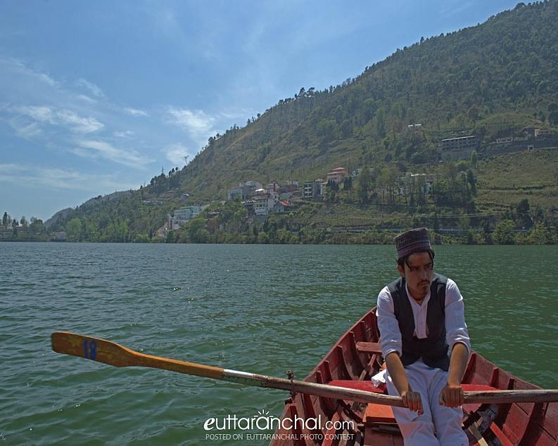 Boatman at bhimtal