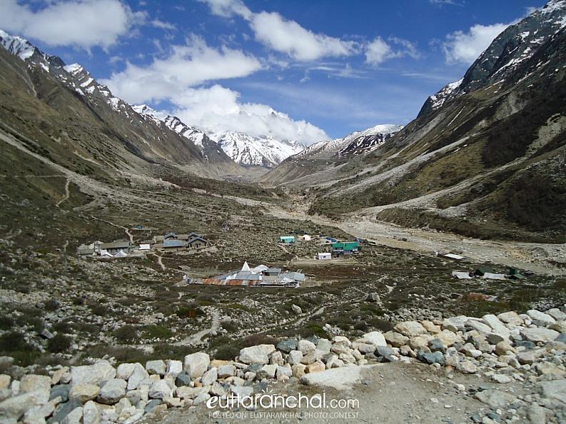 Amazing View of Bhojwasa–4 Km away from Gaumukh Glacier…