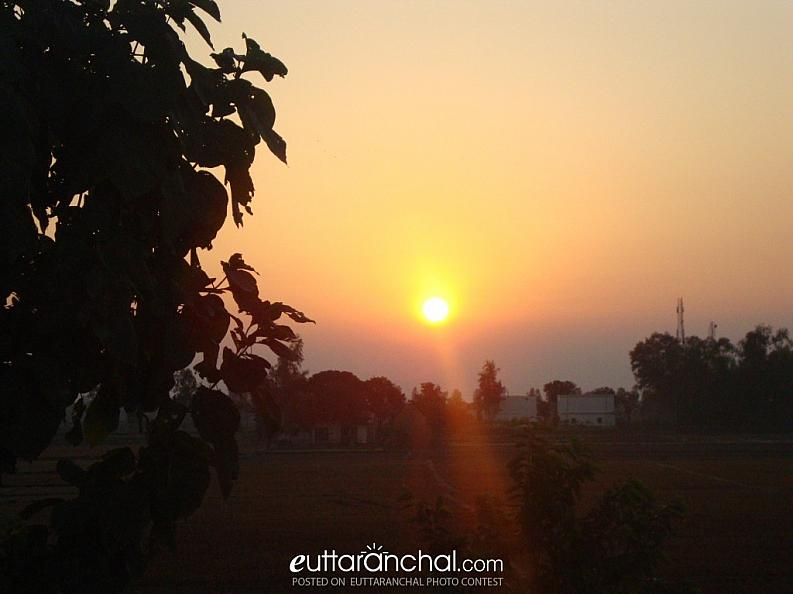 nice view of Sun Rising