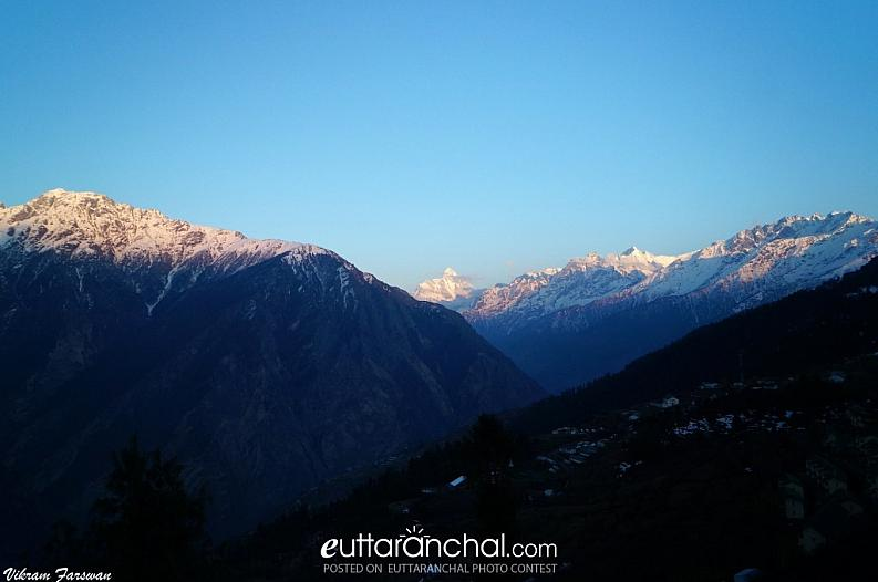 Sunset view from Auli