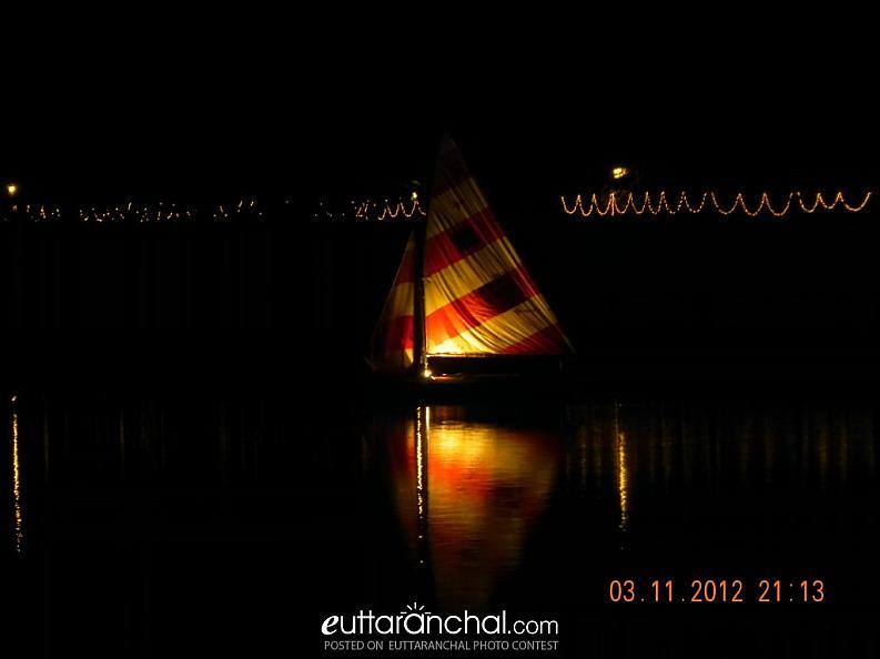 Boating in the Dark @ Nainital