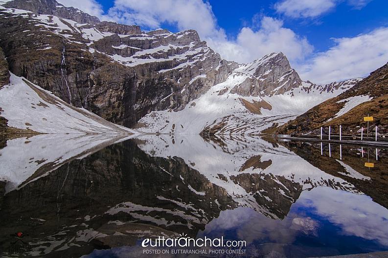 Reflection at Hemkund Lake