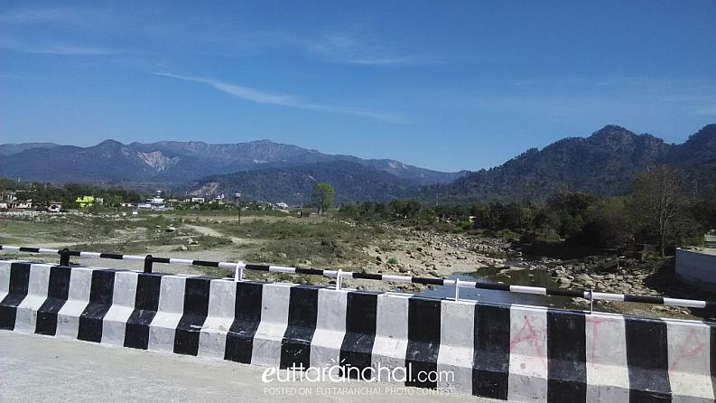 view of Hill from Kotdwar (Recently construction bridge connecting Lalpani area to Kotdwar