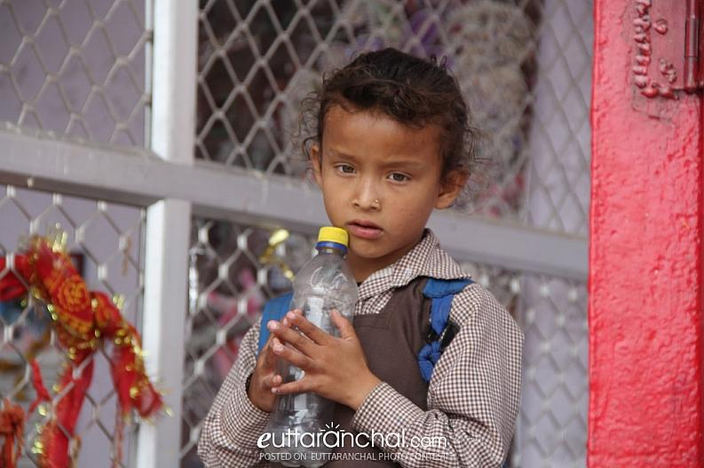Innocent little Garhwali 'nauni' (girl)