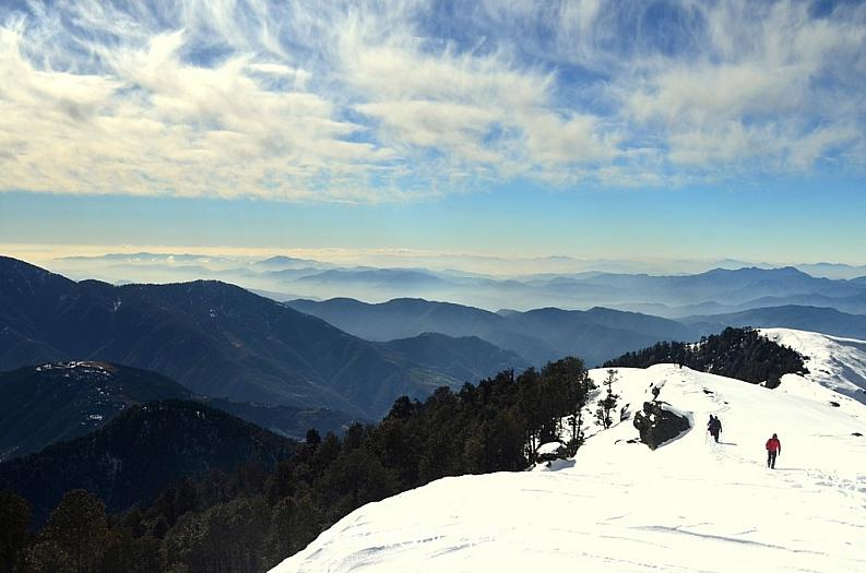 Snow covered mountains & Infinite Valleys