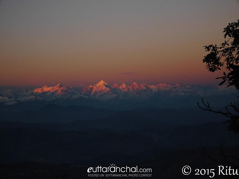Panchachuli at sunset