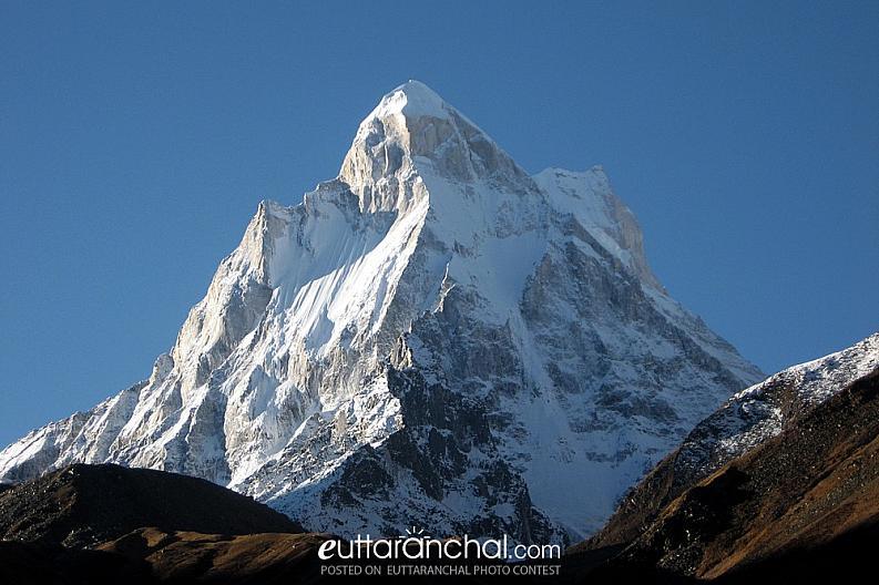 Elegant mountain-flank of Shivling