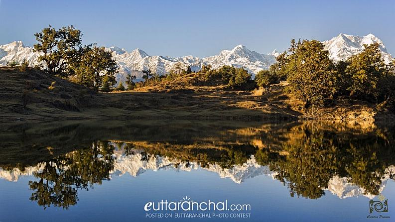 The Majestic Himalayas Reflected in Deoriya Taal