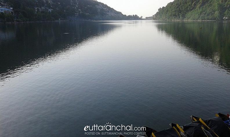 beautiful morning view of naini lake