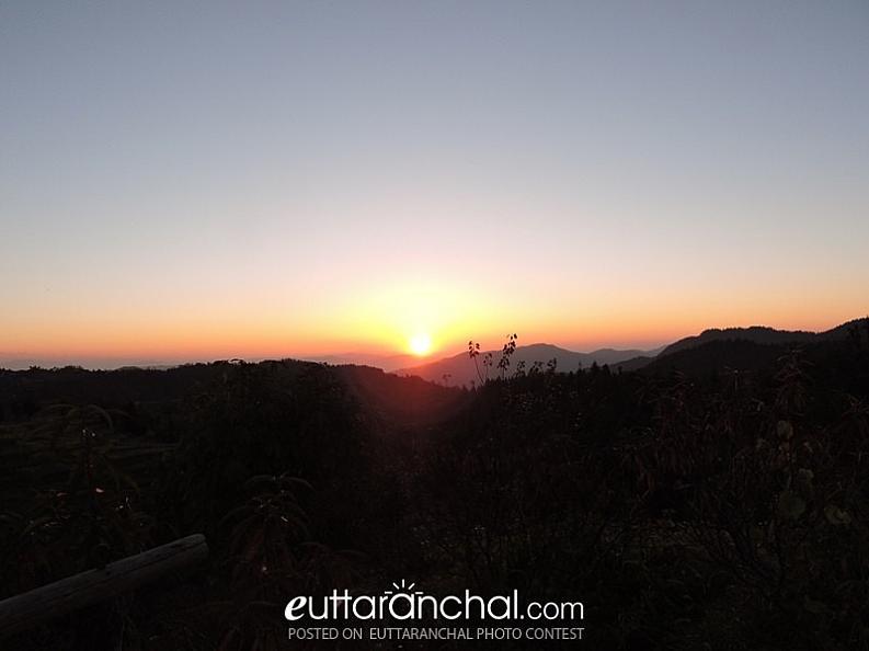 Amazing Sunshine from Vill Managhar, Nainital