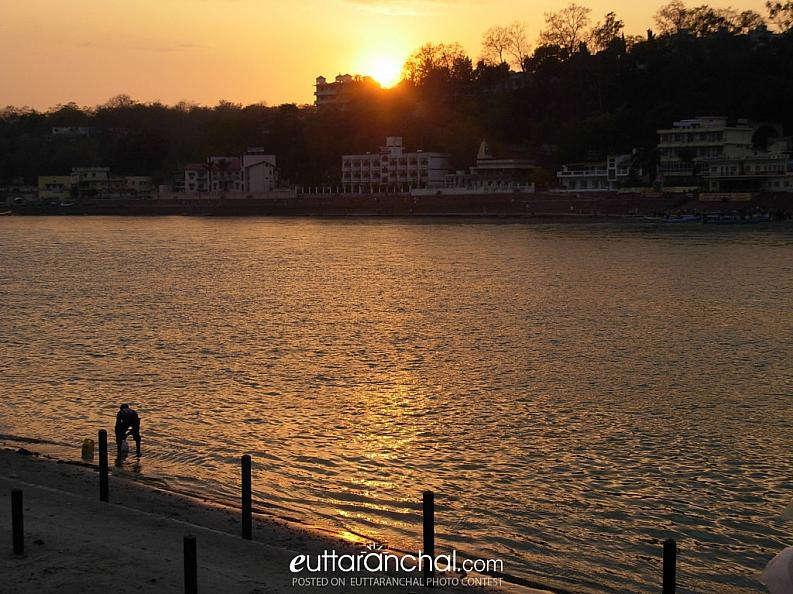 Sunset at Rishikesh