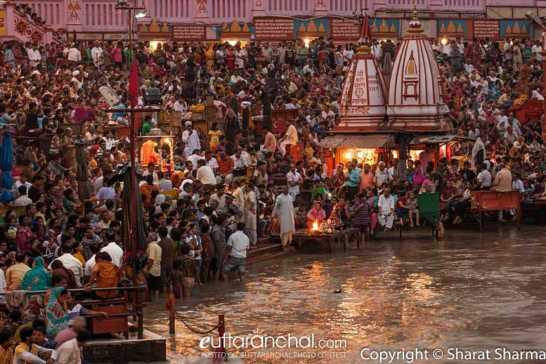 Evening aarti at Haridwar
