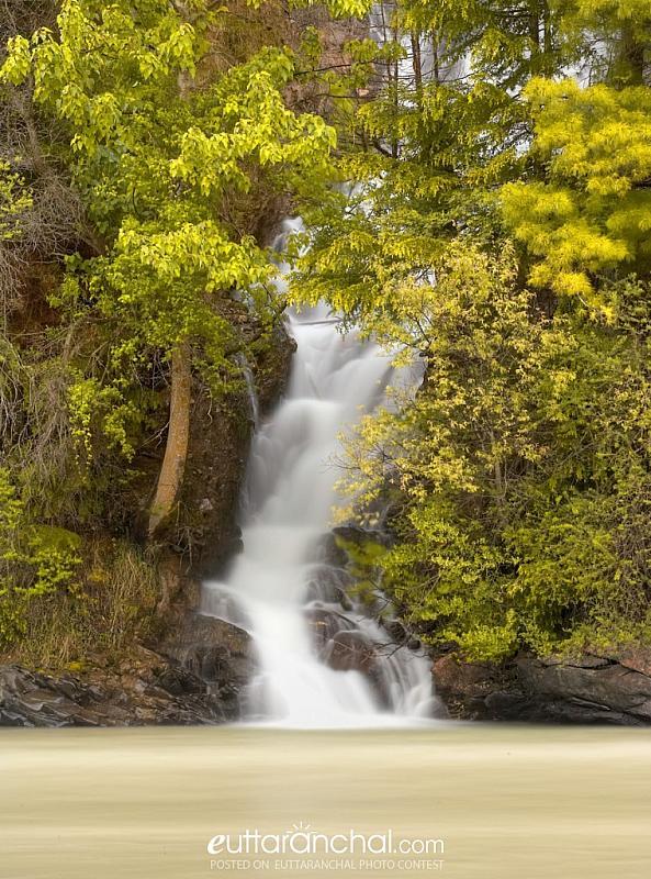 Water Fall near Dharali, Uttarkashi