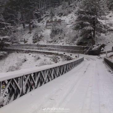 Snowfall in Harshil, Uttarakhand