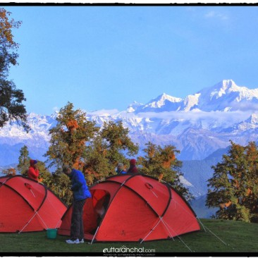 Camping on the meadows of Chopta