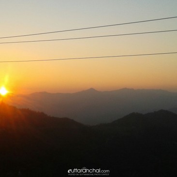 Sunset near Simarkhal, Pauri