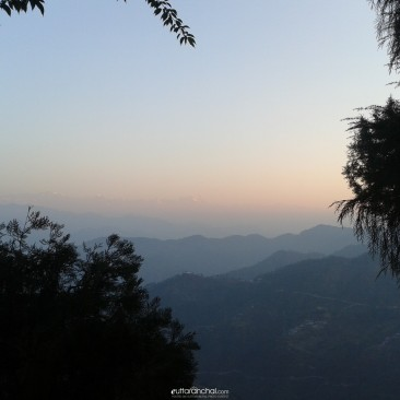Himalayas from Pauri