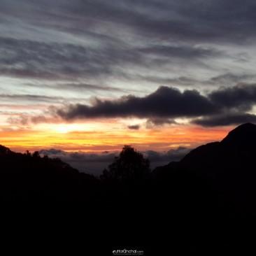 Sunset view from Narendra Nagar, Tehri