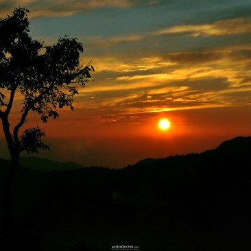Mussoorie Sunset time