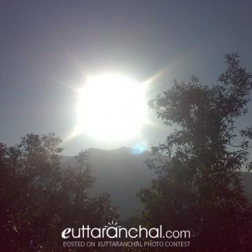 Sunrise from village Bunga, Chamoli