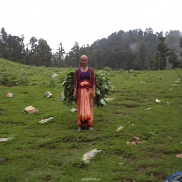 A lady of Uttarakhand