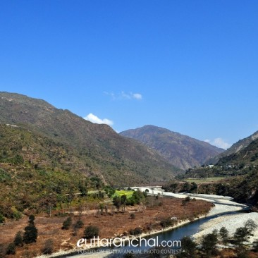 Panoramic view of Malini River view