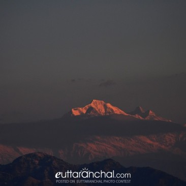 As the first rays of sun kiss the Kedarnath peaks