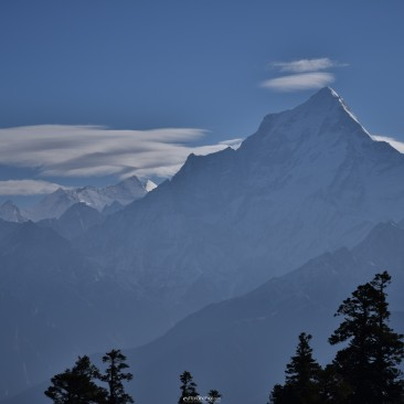 Majestic view of the Himalayas