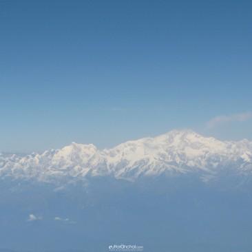 The great himalayas (aeroplane shot)