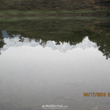 Reflection of the Himalayas in Deoriatal
