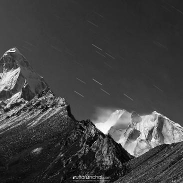 Mt Shivling at Moonlight