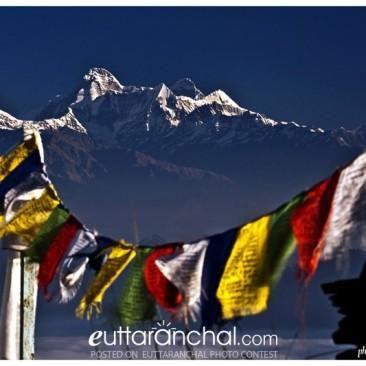 Nanda Devi peak from almora