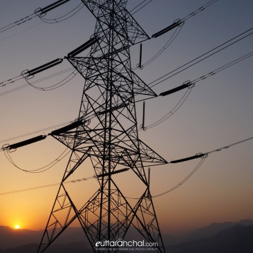 Electricity grid…with golden  sunset