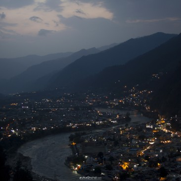 Evening view of Uttarkashi