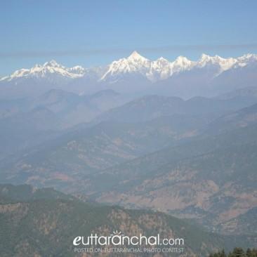 Himalayas  View from Patal  Bhuvaneshwar